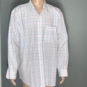 Jos. A Bank Mens White Button Down Dress Shirt XL